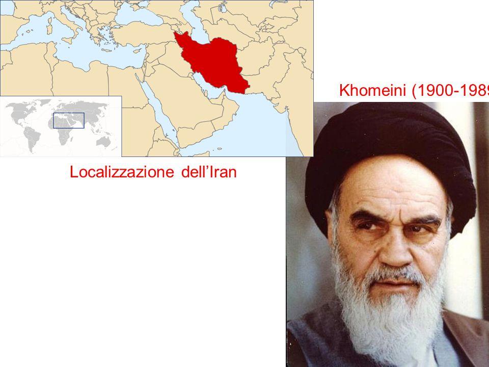 Localizzazione dellIran Khomeini (1900-1989)