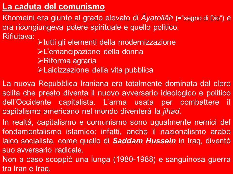 La caduta del comunismo Khomeini era giunto al grado elevato di Āyatollāh (=segno di Dio) e ora ricongiungeva potere spirituale e quello politico. Rif