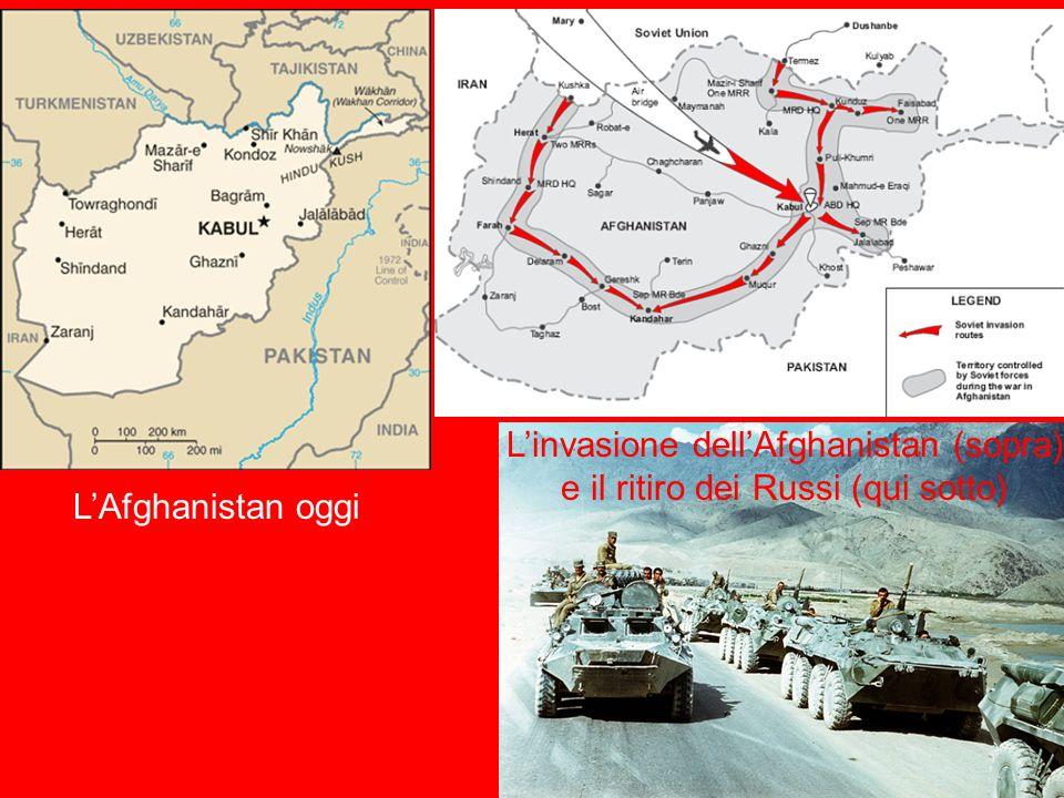 LAfghanistan oggi Linvasione dellAfghanistan (sopra) e il ritiro dei Russi (qui sotto)