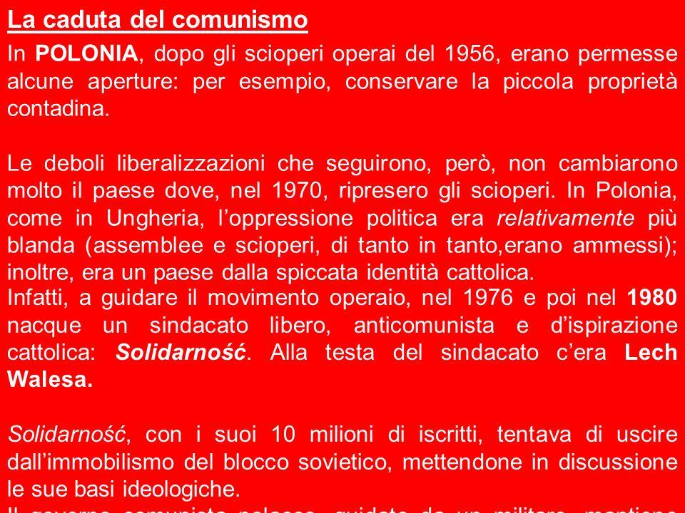 In POLONIA, dopo gli scioperi operai del 1956, erano permesse alcune aperture: per esempio, conservare la piccola proprietà contadina. Le deboli liber