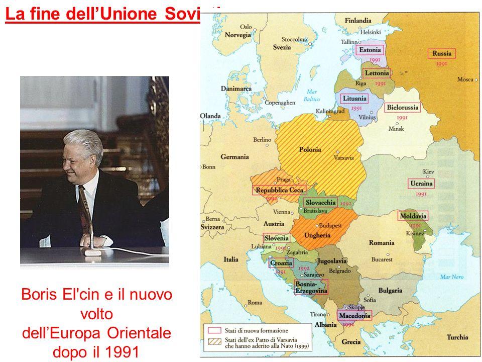 La fine dellUnione Sovietica Boris El'cin e il nuovo volto dellEuropa Orientale dopo il 1991