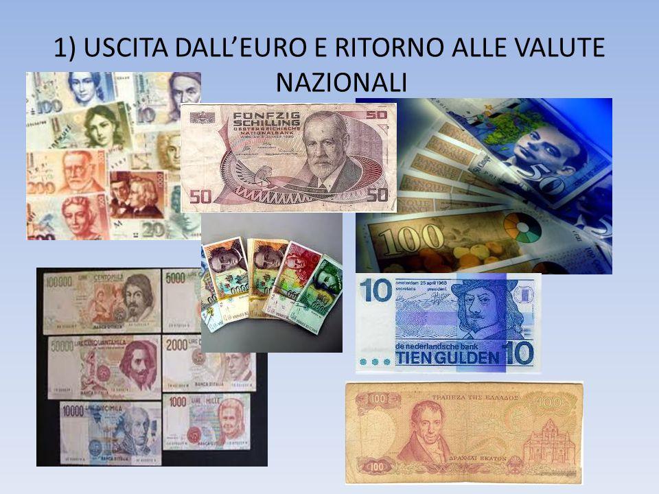 1) USCITA DALLEURO E RITORNO ALLE VALUTE NAZIONALI