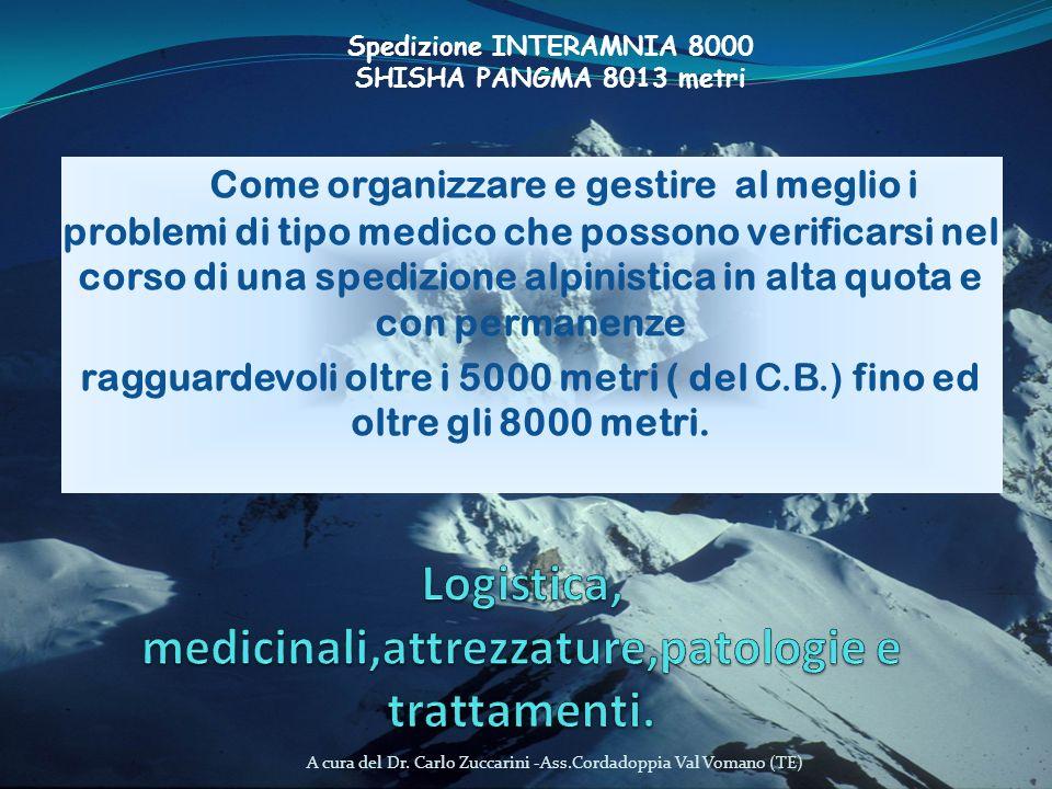 A cura del Dr. Carlo Zuccarini -Ass.Cordadoppia Val Vomano (TE) Come organizzare e gestire al meglio i problemi di tipo medico che possono verificarsi