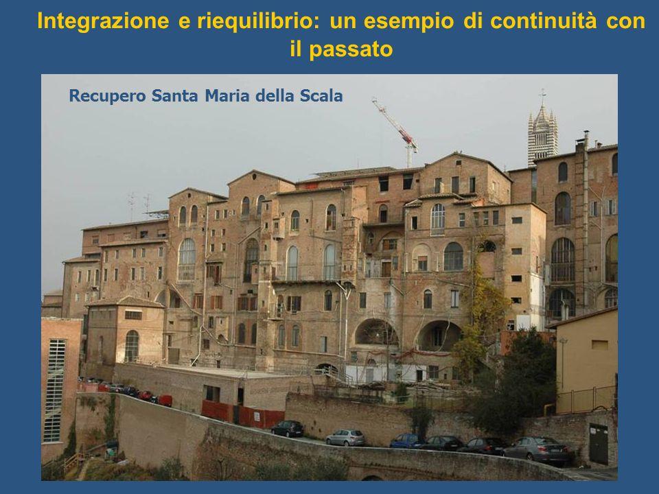Integrazione e riequilibrio: un esempio di continuità con il passato Recupero Santa Maria della Scala