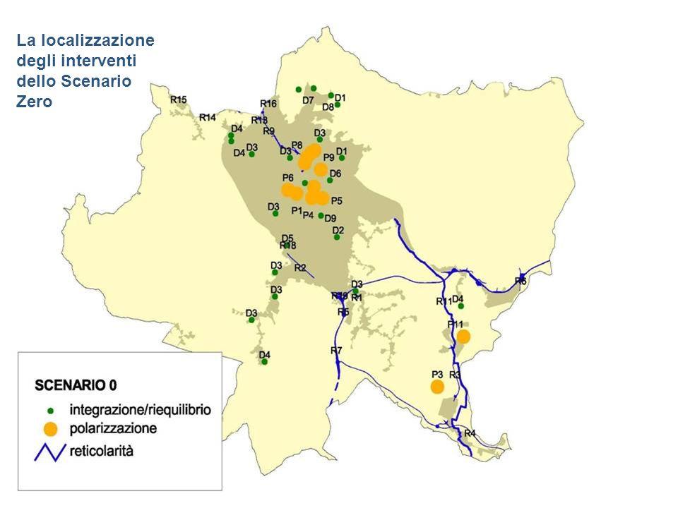 La localizzazione degli interventi dello Scenario Zero
