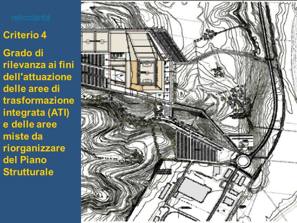 Criterio 4 Grado di rilevanza ai fini dell'attuazione delle aree di trasformazione integrata (ATI) e delle aree miste da riorganizzare del Piano Strut
