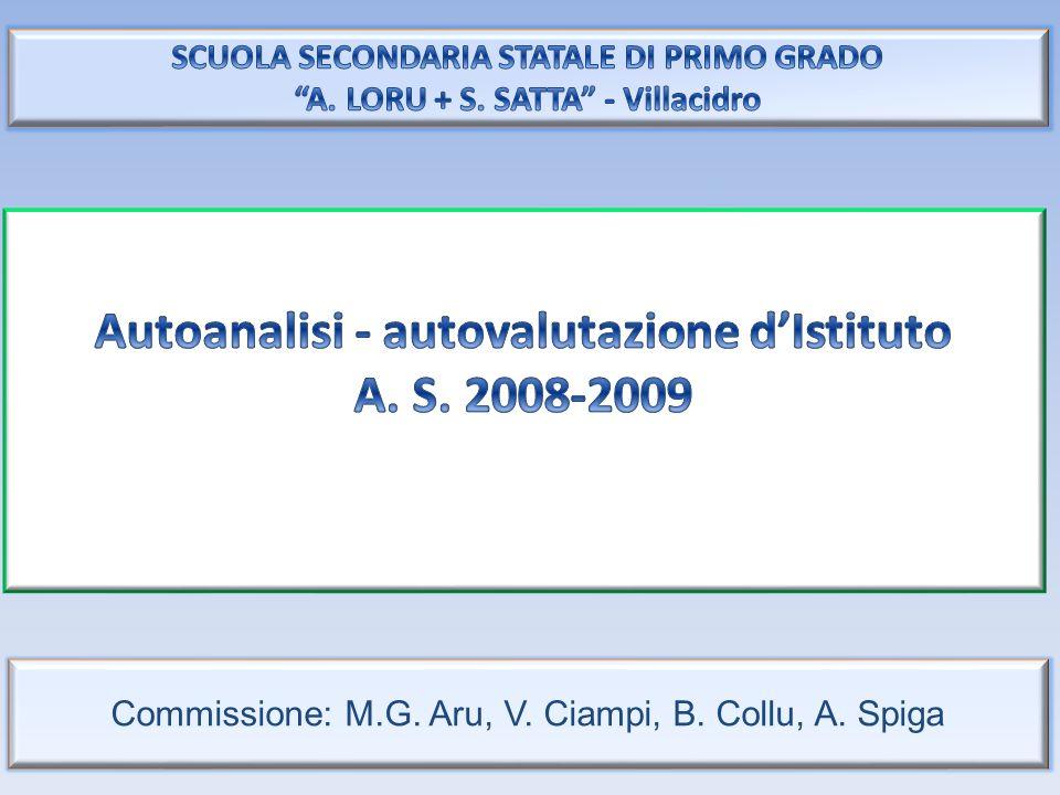 Commissione: M.G. Aru, V. Ciampi, B. Collu, A. Spiga