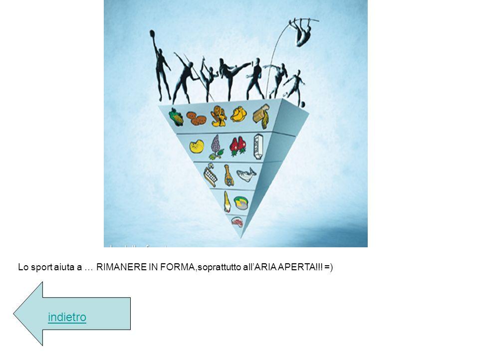 Lo sport aiuta a … RIMANERE IN FORMA,soprattutto allARIA APERTA!!! =) indietro