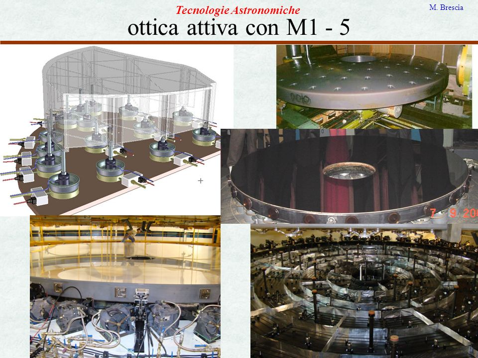 ottica attiva con M1 - 5 Tecnologie Astronomiche M. Brescia
