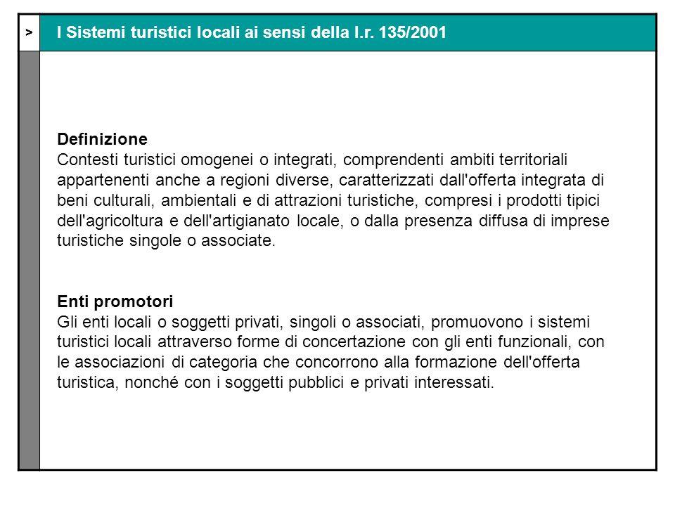 > I Sistemi turistici locali ai sensi della l.r.