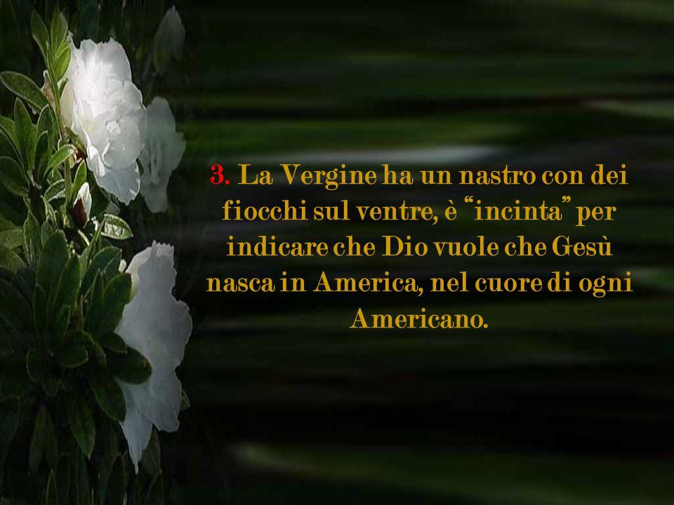 1. Guadalupe significa nellidioma indigeno: schiaccia la testa al serpente. È appunto il vangelo nella Genesi 3:15: Maria, vincitrice del maligno. 2.