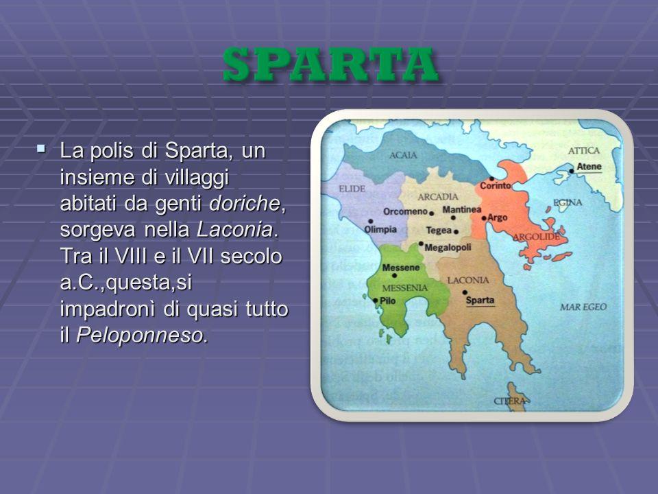 Come accennato prima,il regime politico spartano era qualificato come oligarchia,ovvero come governo di pochi.