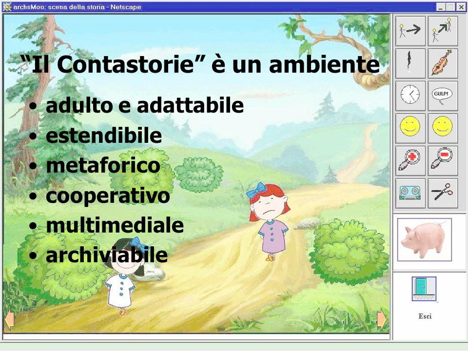 Il Contastorie è un ambiente adulto e adattabile estendibile metaforico cooperativo multimediale archiviabile