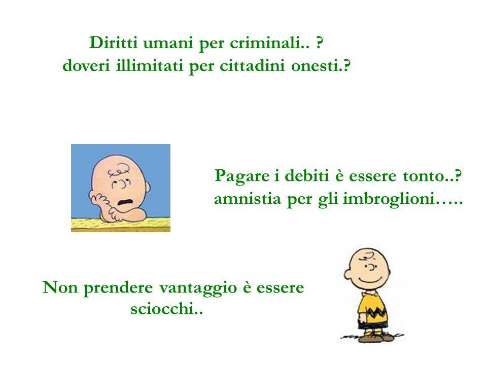 Diritti umani per criminali..doveri illimitati per cittadini onesti..