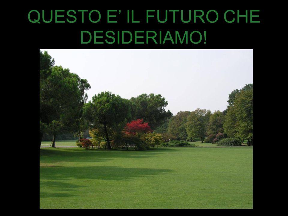 QUESTO E IL FUTURO CHE DESIDERIAMO!