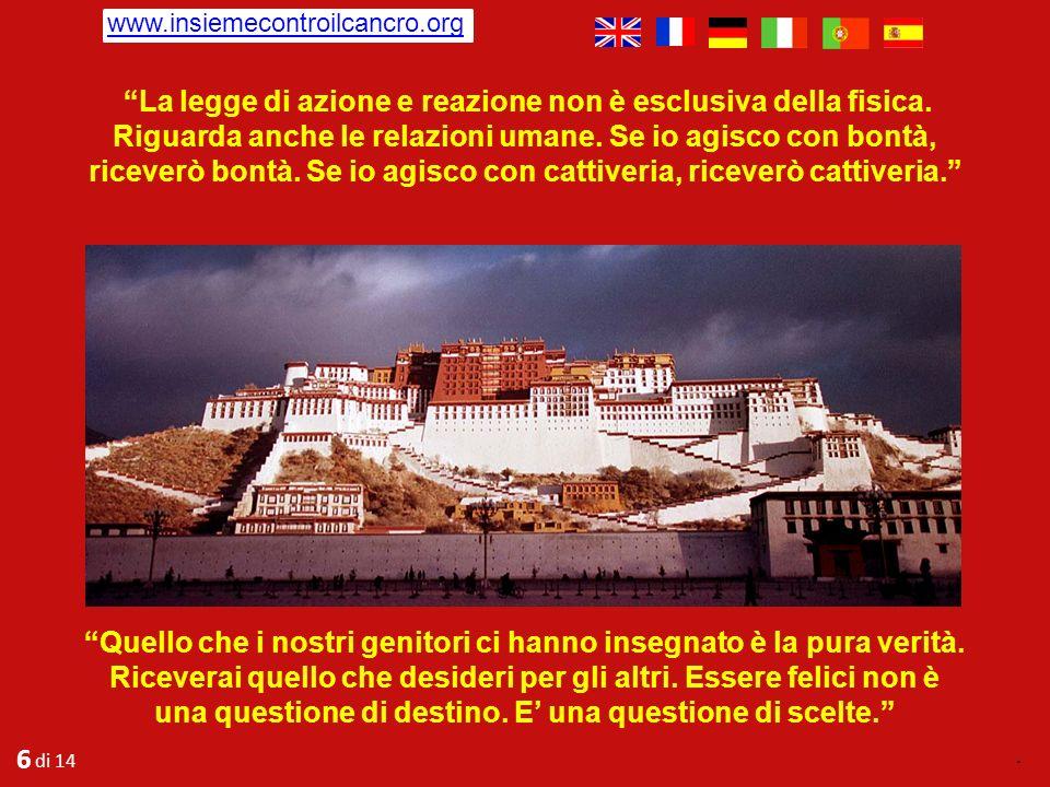 5 di 14. www.crosettofoundation.org Rimasi in silenzio per un momento, meravigliato ed ancora oggi penso alle sue sagge e inconfutabili risposte: Io n