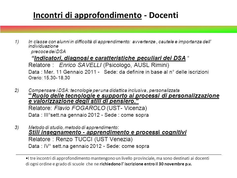 Laboratori territoriali- per gruppi di INSEGNANTI Sede territoriale : - Forlì ITI Marconi - Cesena: Liceo S.