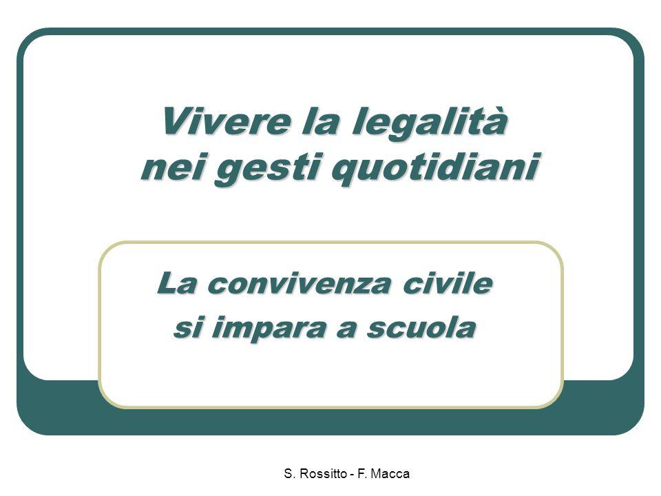S.Rossitto - F. Macca Creare le condizioni …..