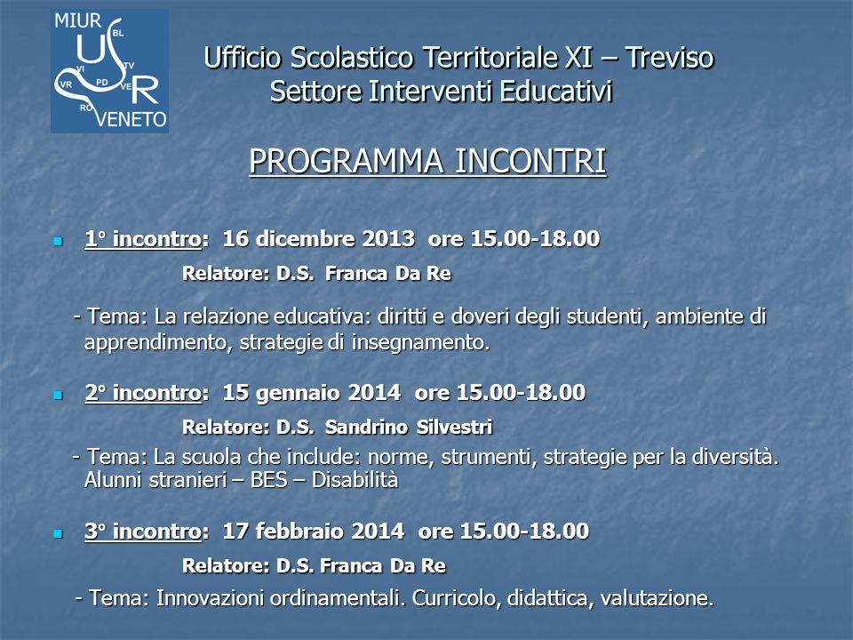 Ufficio Scolastico Territoriale XI – Treviso Settore Interventi Educativi Ufficio Scolastico Territoriale XI – Treviso Settore Interventi Educativi Indirizzi web istituzionali www.istruziontreviso.itwww.istruziontreviso.it (sito UST Treviso) www.istruziontreviso.it www.istruzioneveneto.it (sito USR Veneto) www.istruzione.it (sito MIUR) http://puntoedu.indire.it/corsi/docenti/ (sito Indire per la Formazione docenti)