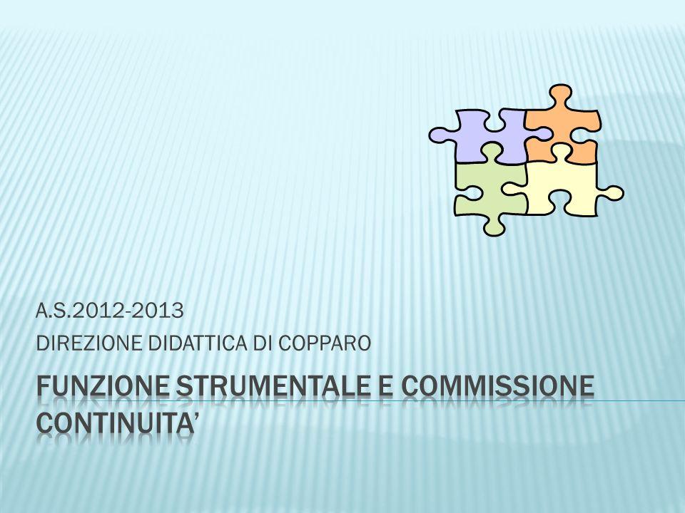 A.S.2012-2013 DIREZIONE DIDATTICA DI COPPARO