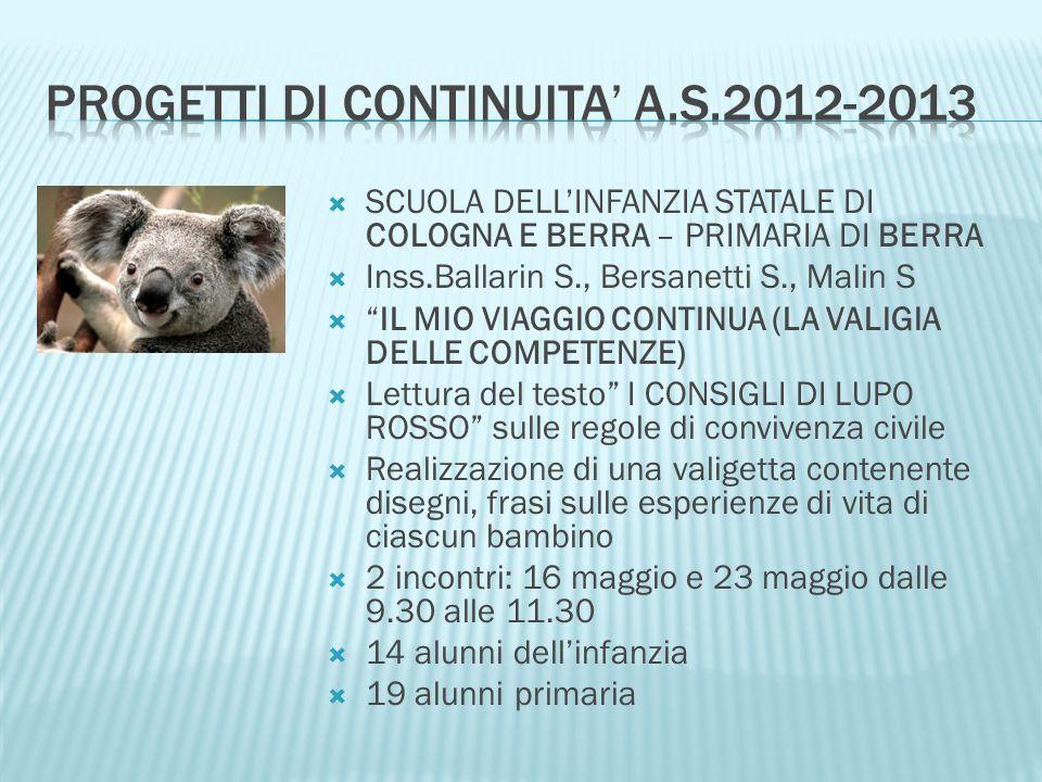 SCUOLA DELLINFANZIA STATALE DI SALETTA, PRIVATA DI SABBIONCELLO S.V.