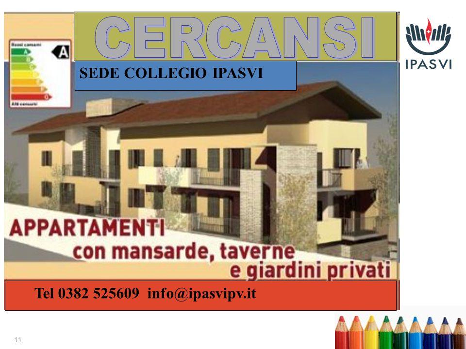 11 SEDE COLLEGIO IPASVI Tel 0382 525609 info@ipasvipv.it