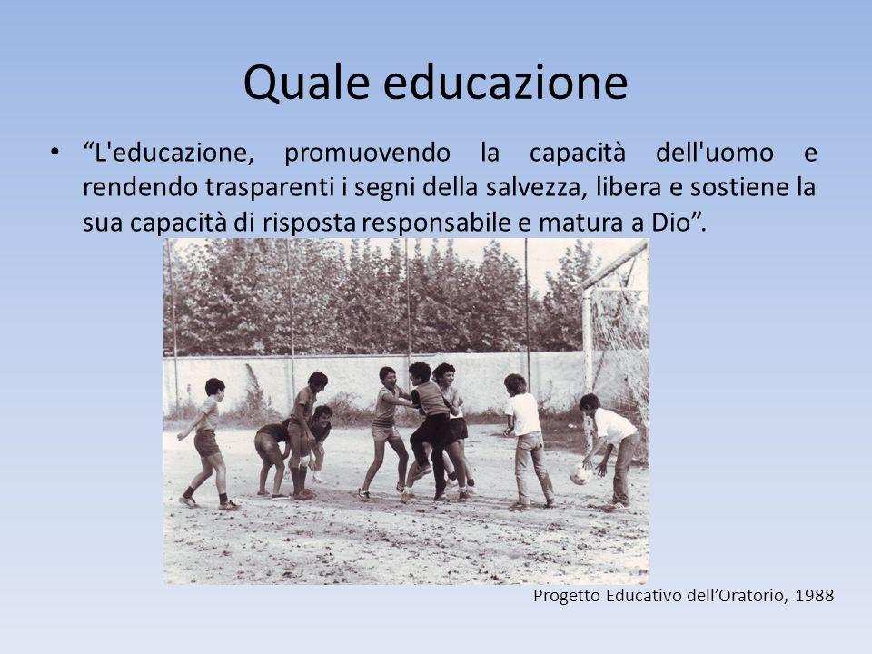 Progetto Educativo dellOratorio 2014