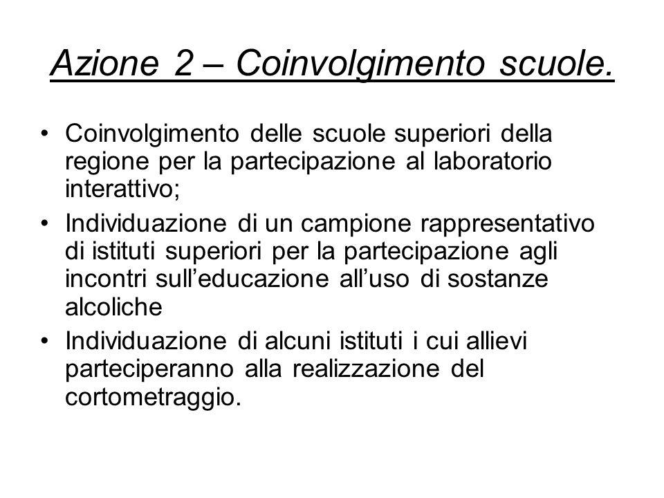 Azione 2 – Coinvolgimento scuole.