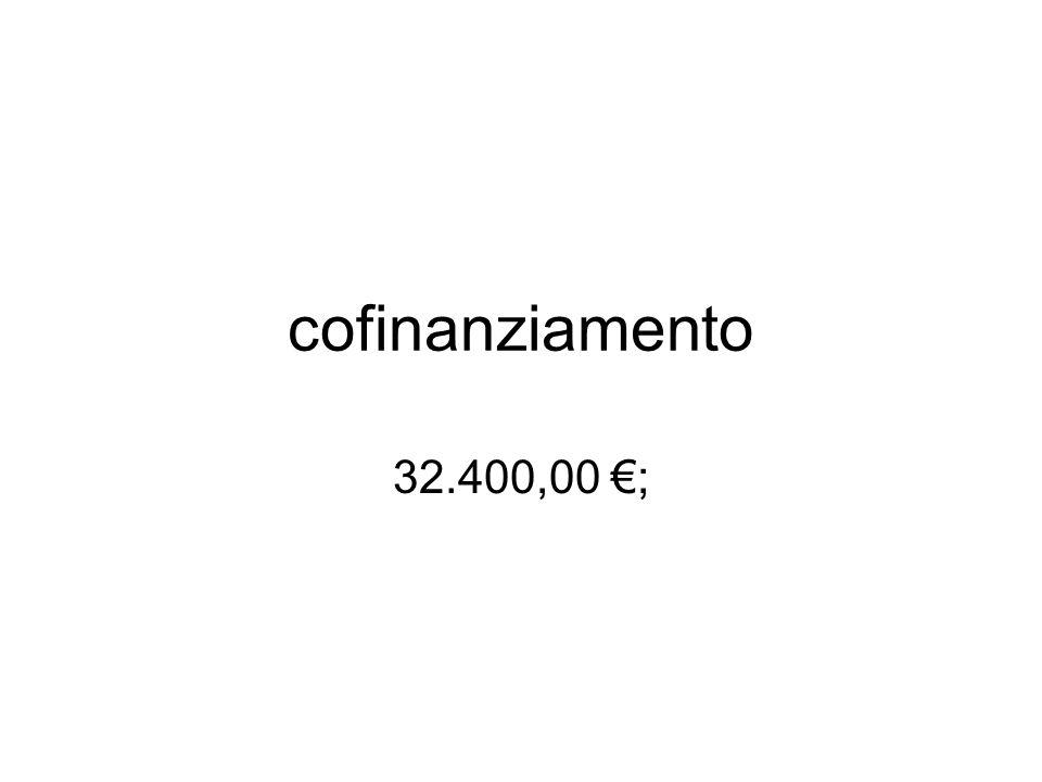 cofinanziamento 32.400,00 ;