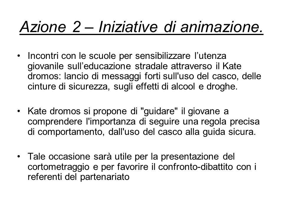 Azione 2 – Iniziative di animazione.
