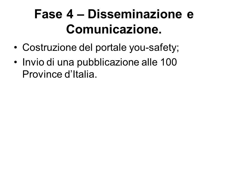 Fase 4 – Disseminazione e Comunicazione.