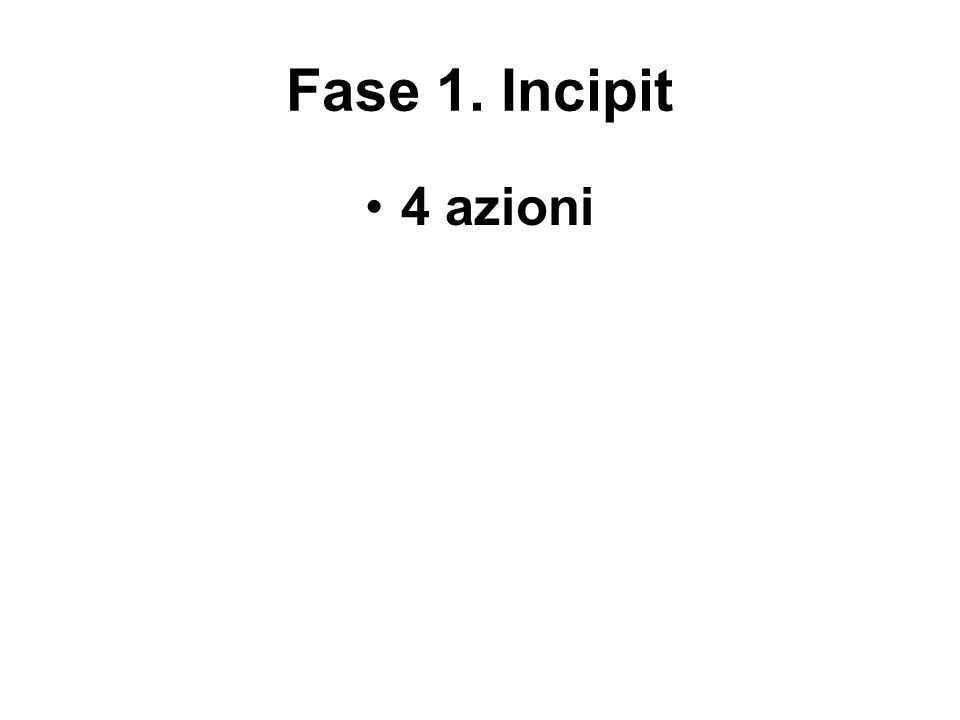 Fase 1. Incipit 4 azioni