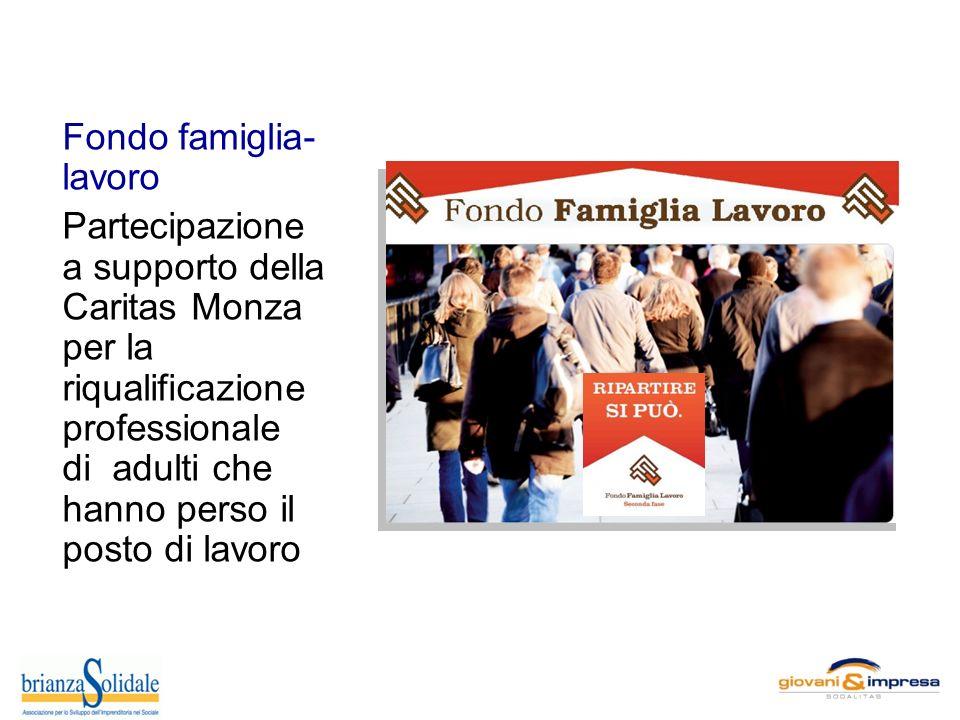 Fondo famiglia- lavoro Partecipazione a supporto della Caritas Monza per la riqualificazione professionale di adulti che hanno perso il posto di lavoro