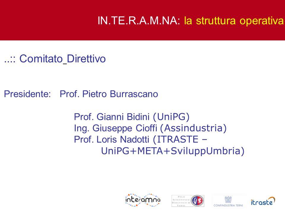 ..:: Comitato Direttivo Presidente: Prof. Pietro Burrascano Prof. Gianni Bidini (UniPG) Ing. Giuseppe Cioffi (Assindustria) Prof. Loris Nadotti (ITRAS