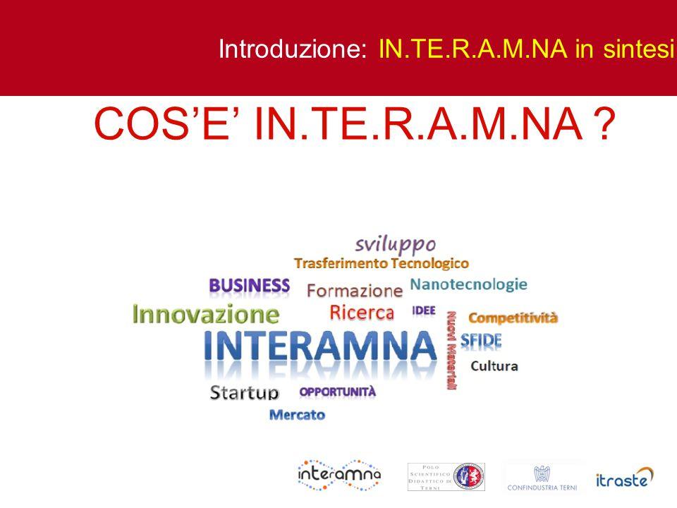 Introduzione: IN.TE.R.A.M.NA in sintesi COSE IN.TE.R.A.M.NA ?