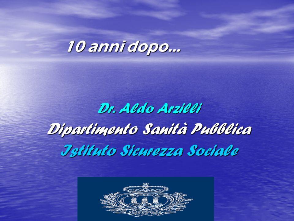 10 anni dopo… Dr. Aldo Arzilli Dipartimento Sanità Pubblica Istituto Sicurezza Sociale