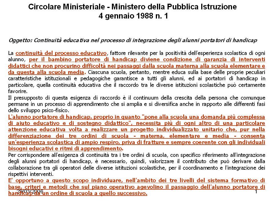 Circolare Ministeriale - Ministero della Pubblica Istruzione 4 gennaio 1988 n. 1 lucia: