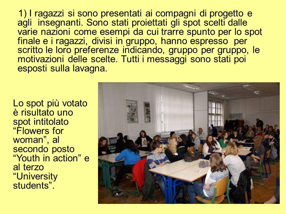 1) I ragazzi si sono presentati ai compagni di progetto e agli insegnanti.