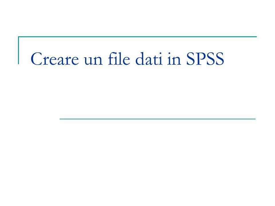 Creare un file dati in SPSS
