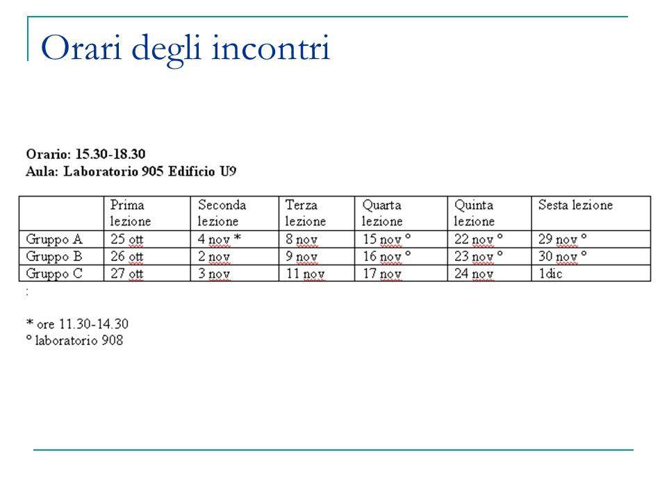 Esempi: misure esplicite ed implicite Attenzione: negli assignment userete i dati che raccogliamo ora (con dati di scarsa qualità le analisi sono molto più difficili!!!)
