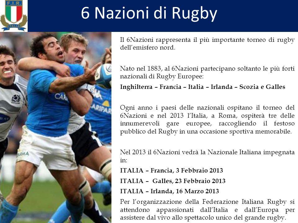 Il 6Nazioni rappresenta il più importante torneo di rugby dellemisfero nord.