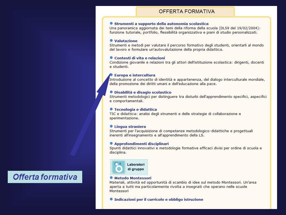 E-Tutor: Pier Luigi Ciarpaglini22 Offerta formativa