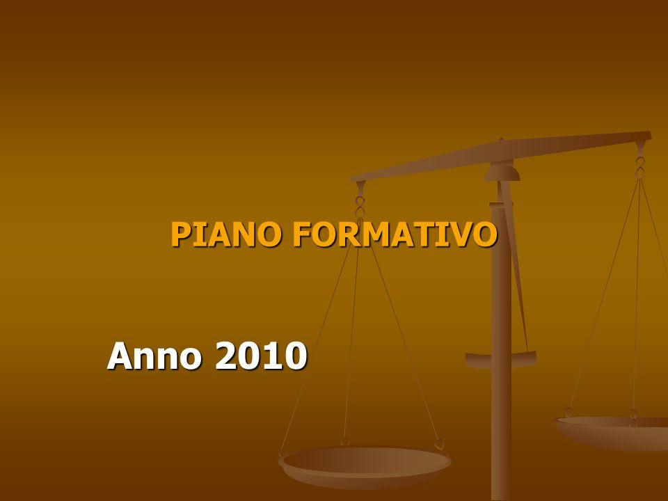 PIANO FORMATIVO Anno 2010