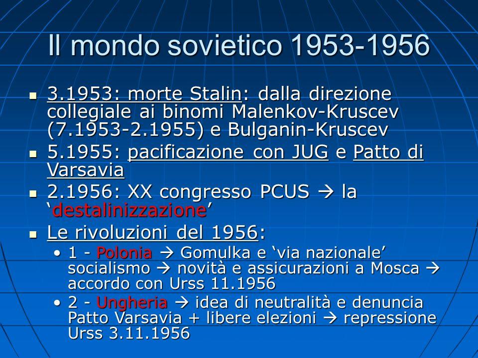 Il 1989 (2) Romania: opposizione 12.1989 a Ceausescu (condanna a morte) multipartitismo e elezioni 5.1990: Iliescu presidente (tra ex-comunismo e cambiamento) Romania: opposizione 12.1989 a Ceausescu (condanna a morte) multipartitismo e elezioni 5.1990: Iliescu presidente (tra ex-comunismo e cambiamento) Bulgaria: dimissioni governo Zhivkov e elezioni 1.1990 Bulgaria: dimissioni governo Zhivkov e elezioni 1.1990 Albania: 1991: scioperi e manifestazioni governo di coalizione con non-comunisti elezioni 1992: Berisha primo presidente post-comunista (poi: problemi di instabilità) Albania: 1991: scioperi e manifestazioni governo di coalizione con non-comunisti elezioni 1992: Berisha primo presidente post-comunista (poi: problemi di instabilità)