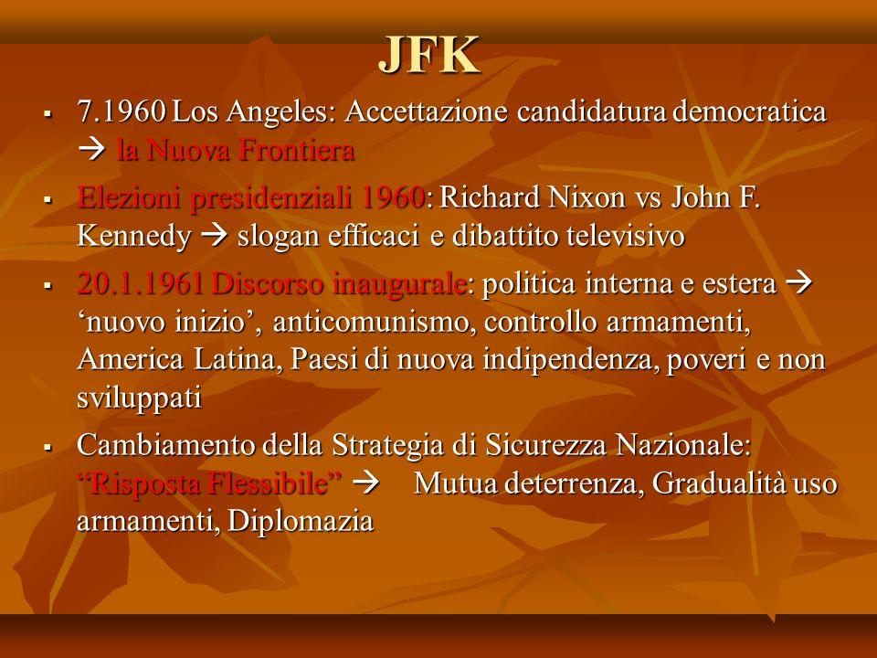 JFK 7.1960 Los Angeles: Accettazione candidatura democratica la Nuova Frontiera 7.1960 Los Angeles: Accettazione candidatura democratica la Nuova Fron