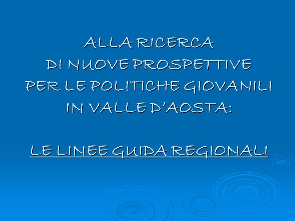ALLA RICERCA DI NUOVE PROSPETTIVE PER LE POLITICHE GIOVANILI IN VALLE DAOSTA: LE LINEE GUIDA REGIONALI