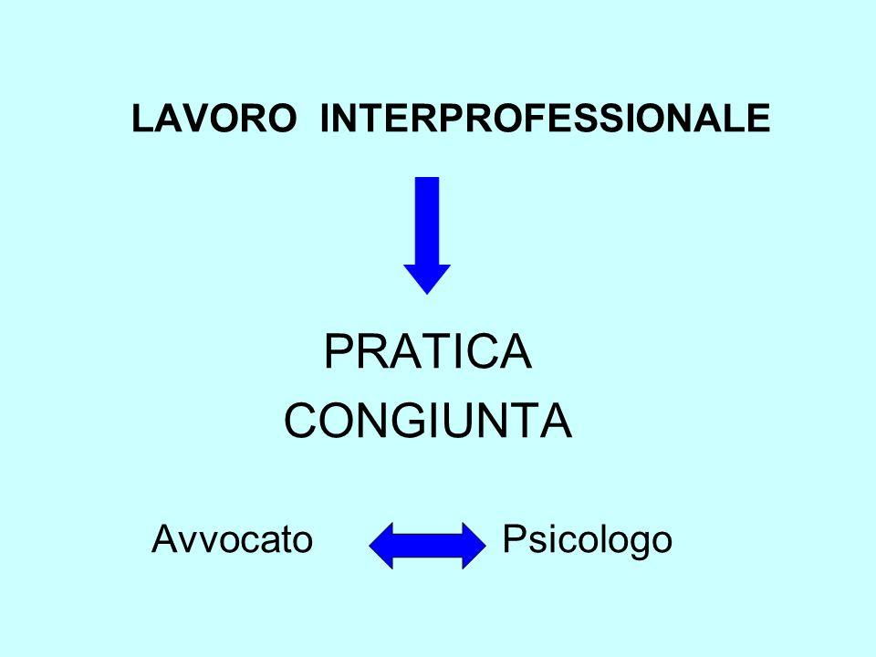 LAVORO INTERPROFESSIONALE PRATICA CONGIUNTA Avvocato Psicologo