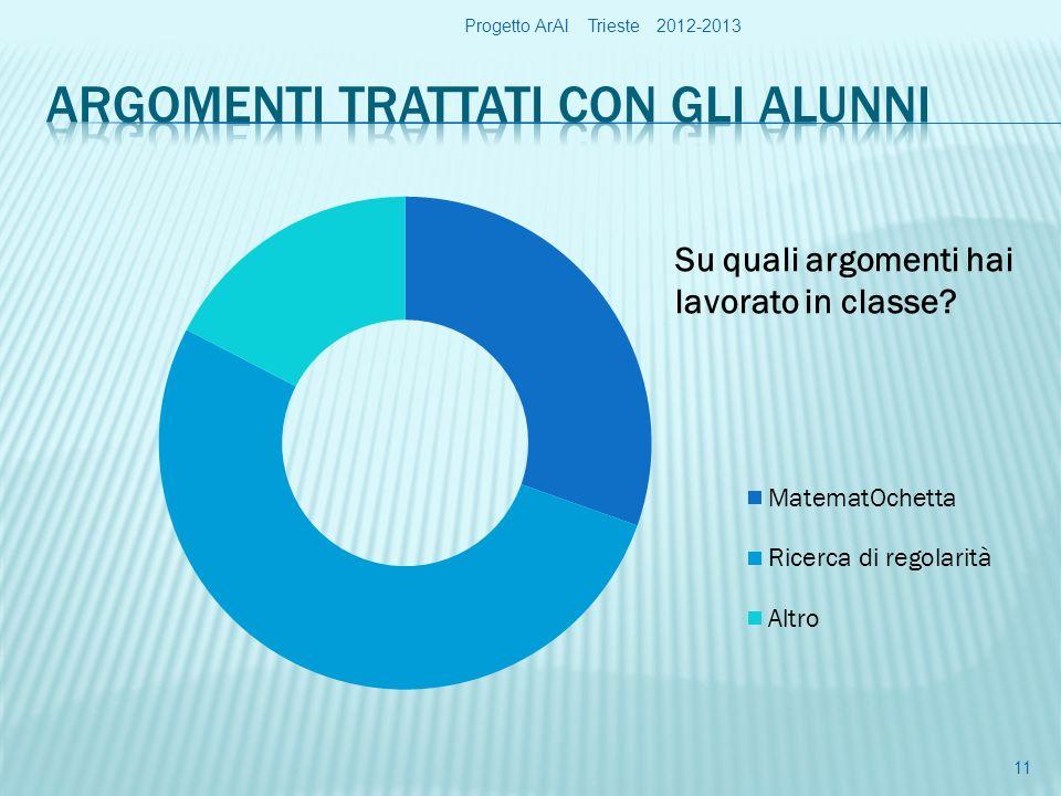 Progetto ArAl Trieste 2012-2013 11