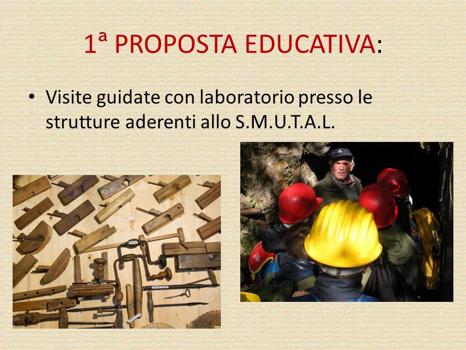 1 ª PROPOSTA EDUCATIVA: Visite guidate con laboratorio presso le strutture aderenti allo S.M.U.T.A.L.