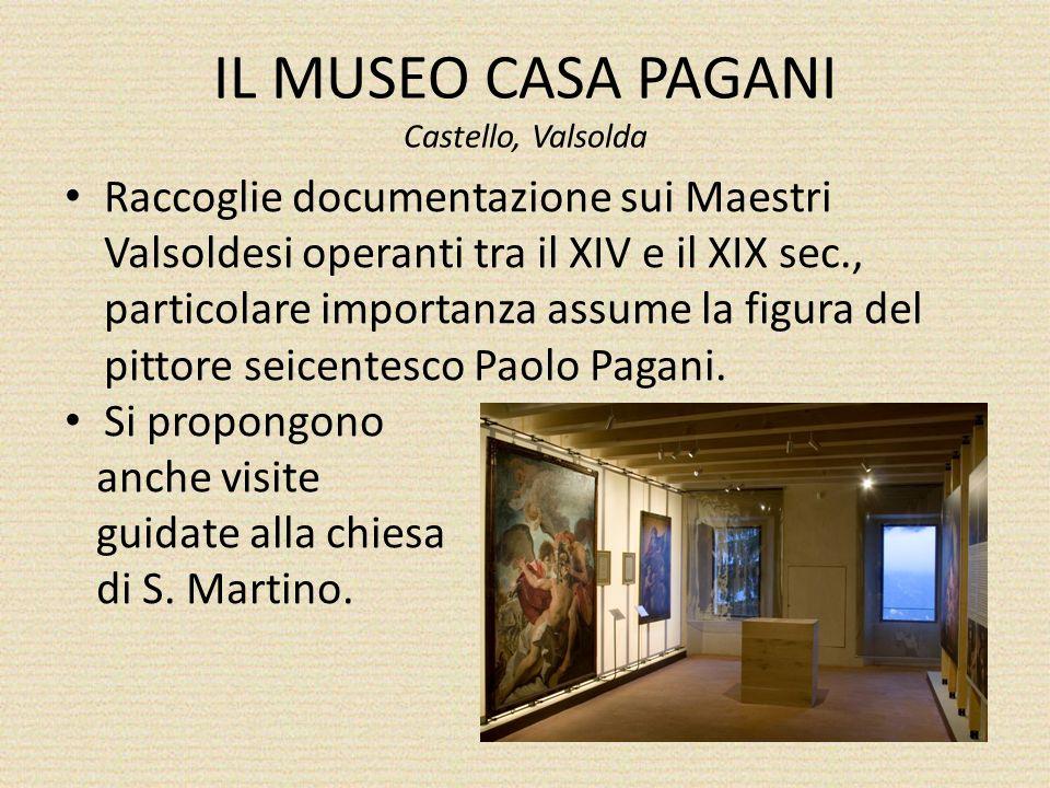 IL MUSEO CASA PAGANI Castello, Valsolda Raccoglie documentazione sui Maestri Valsoldesi operanti tra il XIV e il XIX sec., particolare importanza assume la figura del pittore seicentesco Paolo Pagani.